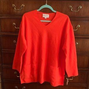 New Emanuel Ungaro Lambswool Orange Tunic M $168